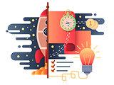Startup business flat design