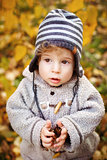 Close-up Portrait of Cute Toddler Boy 1.5 - 2 year