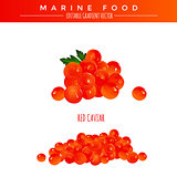 Red Caviar. Marine Food