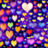 Colorful hearts texture