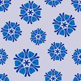 Seamless pattern blue boho chic