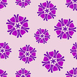 Seamless background lilac boho chic