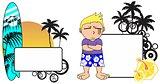 kid surfer expression cartoon copyspace 4