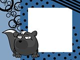 funny skunk ball frame cartoon background