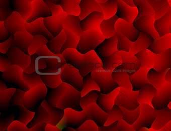 Abstract red decorative wall