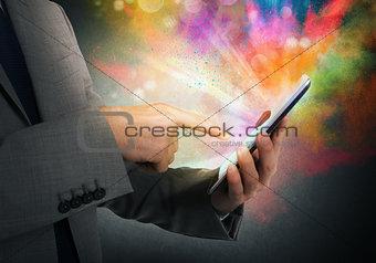 Cellphone colorful multimedia