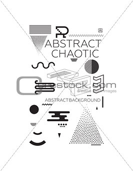 Chaotic Abstract Background