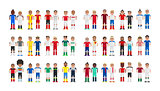 Cup 2016 Football players in pixels