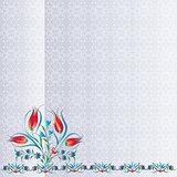 Antique ottoman turkish pattern vector design one hundred