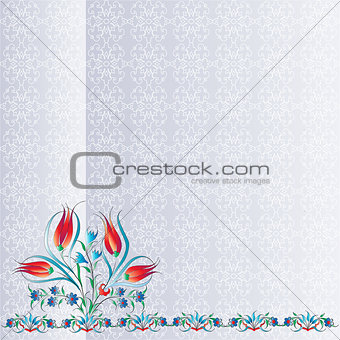 Antique ottoman turkish pattern vector design one hundred