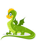 Funny green dragon