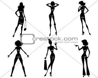 Six modern girls