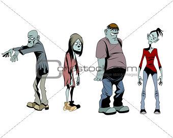 Four zombies set