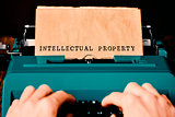 text intellectual property typewritten