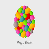 Easter card with abstract colored eggs