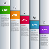 Time line info graphic with stripes design template