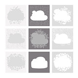 Cloud shape backgrounds, set for your design