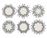 Set of ornamental frames for your design