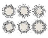 Set of ornamental frames for your design