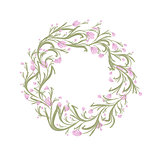 Floral wreath sketch for your design