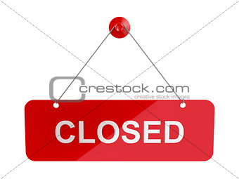 Closed sign door plate