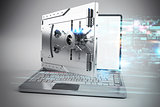 3D illustration of Online secure banking