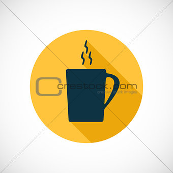 A cup of tea, coffee, icon, vector