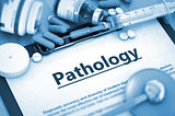 Pathology Diagnosis. Medical Concept. Composition of Medicaments.