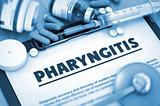 Pharyngitis Diagnosis. Medical Concept. 3D Render.