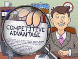 Competitive Advantage through Magnifier. Doodle Concept.