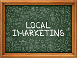 Local Imarketing - Hand Drawn on Green Chalkboard.