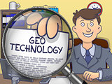 Geo Technology through Lens. Doodle Design.
