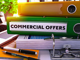 Green Ring Binder with Inscription Commercial Offers.