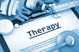 Therapy. Medical Concept. Toned Image.