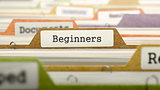 Beginners on Business Folder in Catalog.