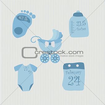 A set of objects for baby