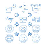 Set icons and pictogram