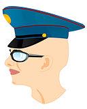 Man in service cap