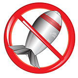 Sign of the prohibiting bomb