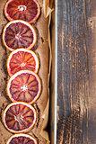 Blood orange spelt cake