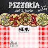 menu design in the pizzeria