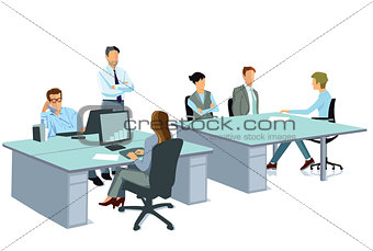 Office work in a team