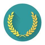 Laurel Wreath flat icon