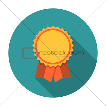 Award ribbons flat icon