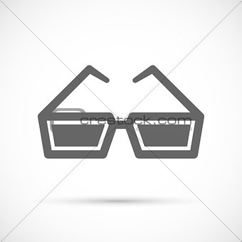 Cinema glasses icon