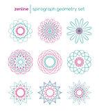 Vector spirograph symbols