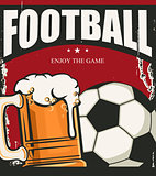 Football banner template