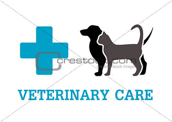 animals on vet symbol