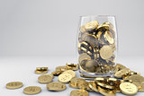 Money golden coins