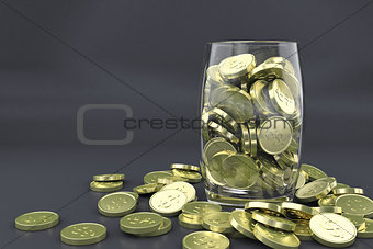Money golden coins